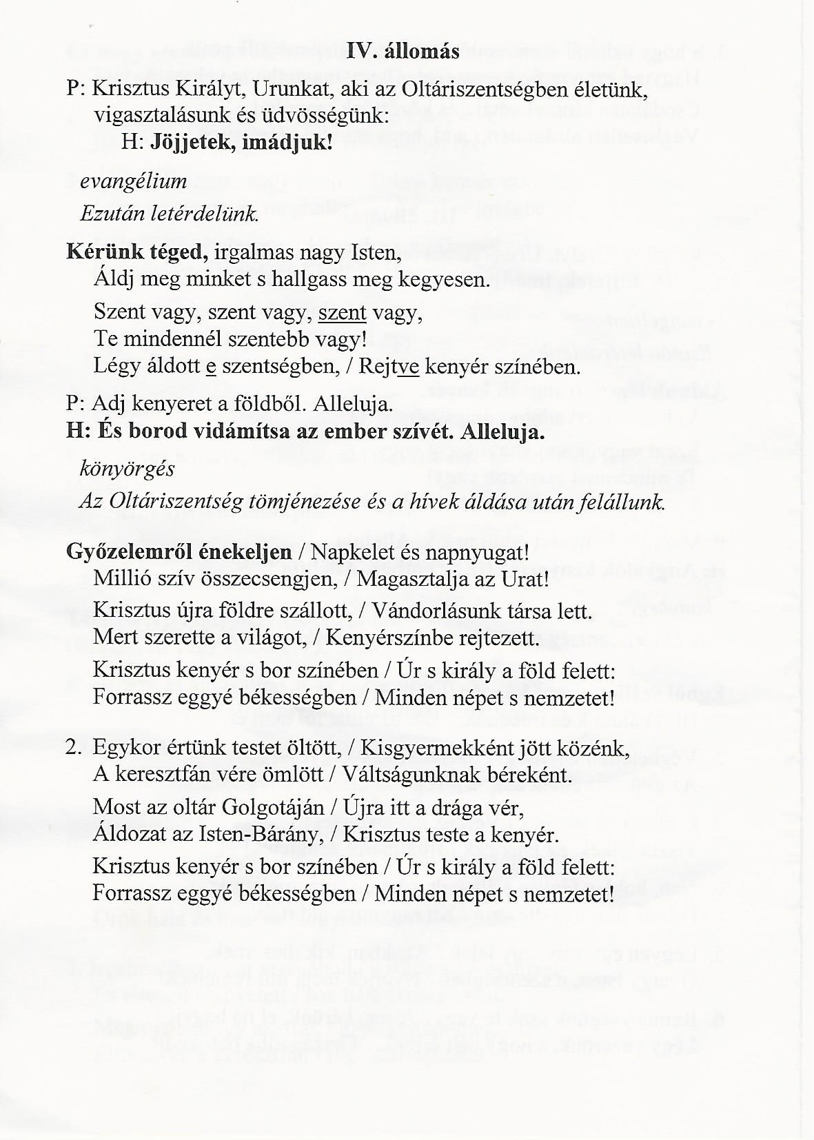 Úrnapi Körmenet IV.