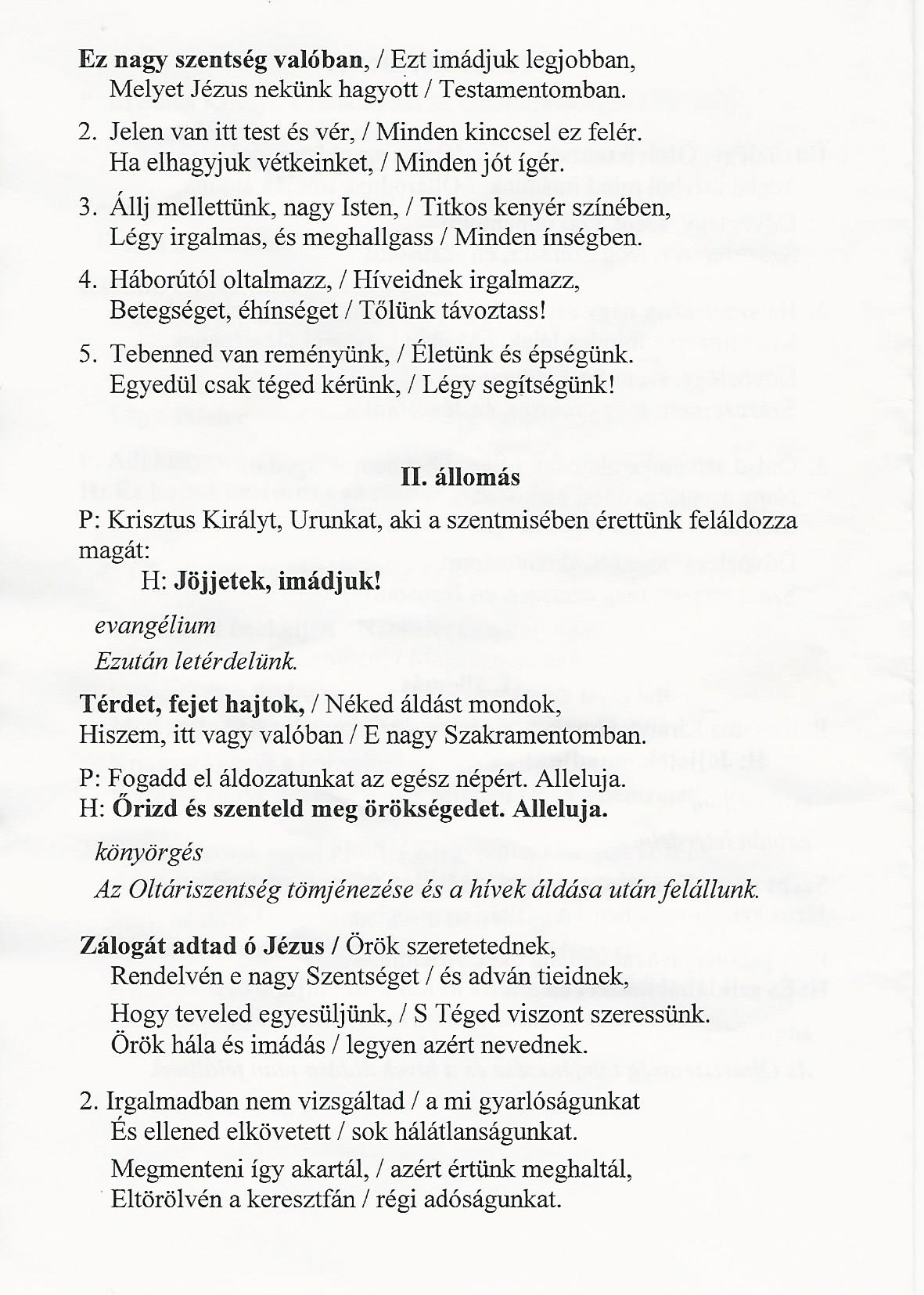 Úrnapi körmenet II.