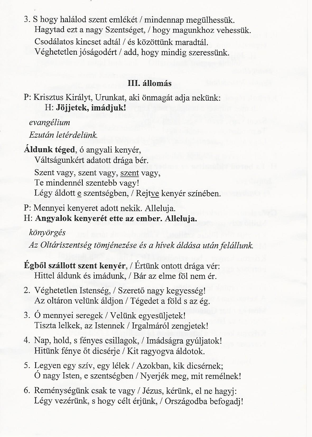 Úrnapi körmenet III.