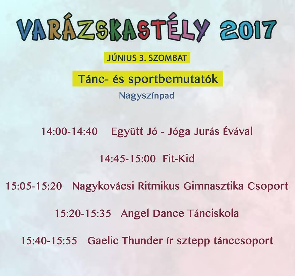 Varázskastély 2017. A tánc- és sport bemutatók plakátja