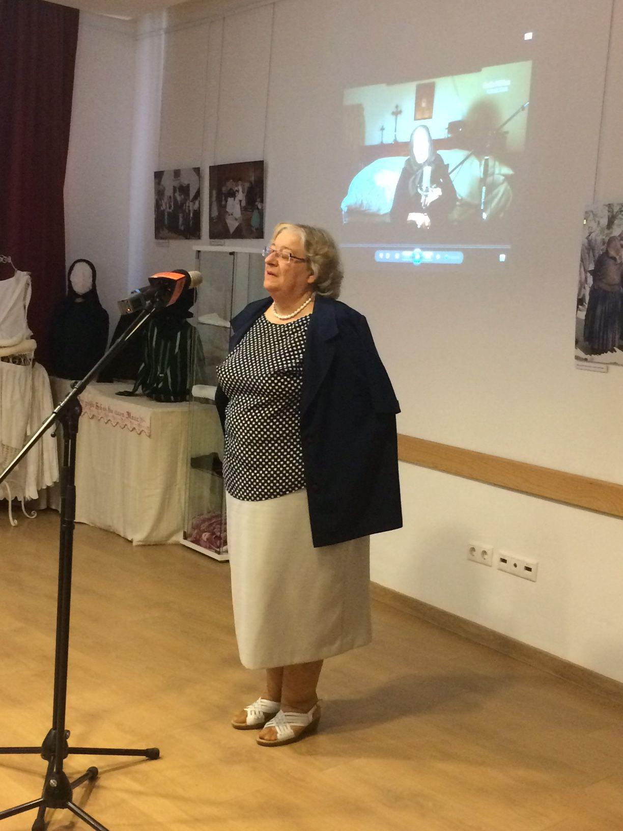 Jablonkay Mária, Solymár köszöntő szavai