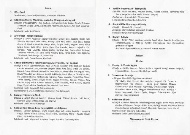 Az ünnepi program