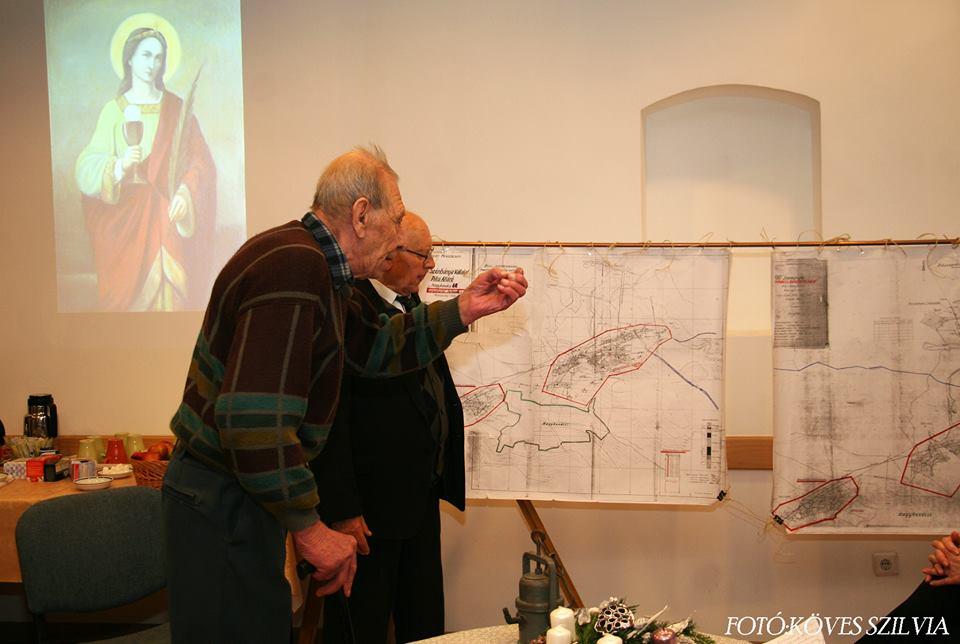 Borbála napi ünnepség Probszt András nyugalmazott bányász és Németh József nyugalmazott, gyémántdiplomás földmérő mérnök 2017. december 4.