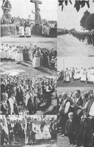 A Kálvária keresztjei bal felső kép Aratási hálaadás Greszl Ferenc könyvéből