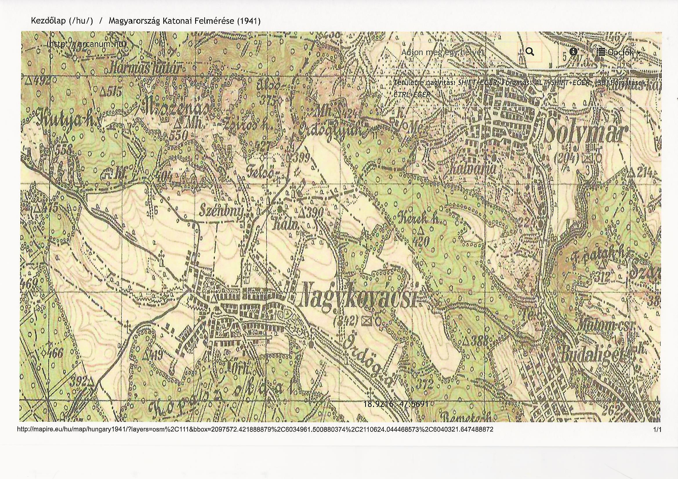 Magyarország Katonai Felmérése 1941