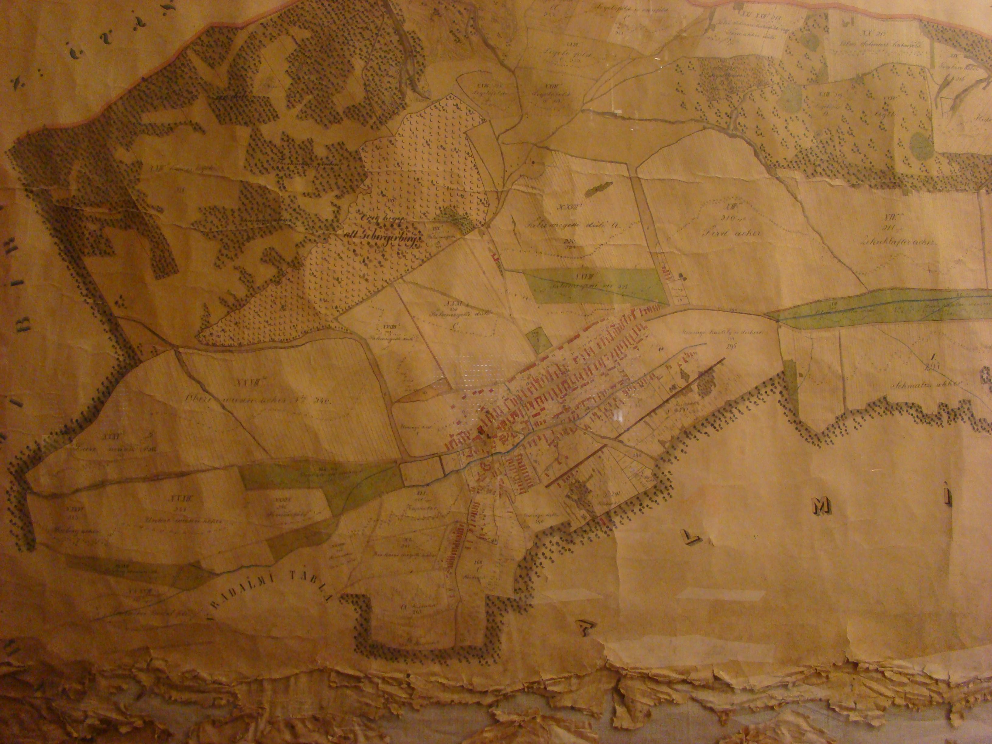 Nagy Kovátsy vólt úrbéresek összes birtokainak kimutatott térképe az 1882-dik évben