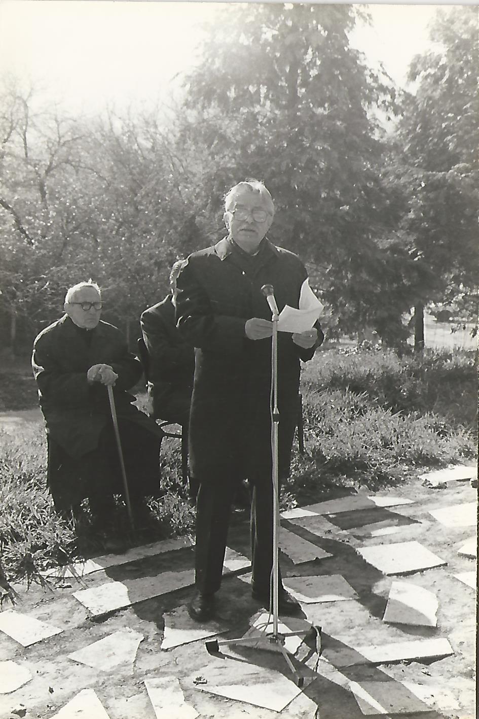 Illyés Gyula: Egy mondat a zsarnokságról 1990. október 23. Mensáros László Kossuth-díjas színművész, Fotó Csiha László