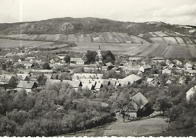 Nagykovácsi látkép. Fotó Czeizing Lajos  Képeslapról készült fotó HDt