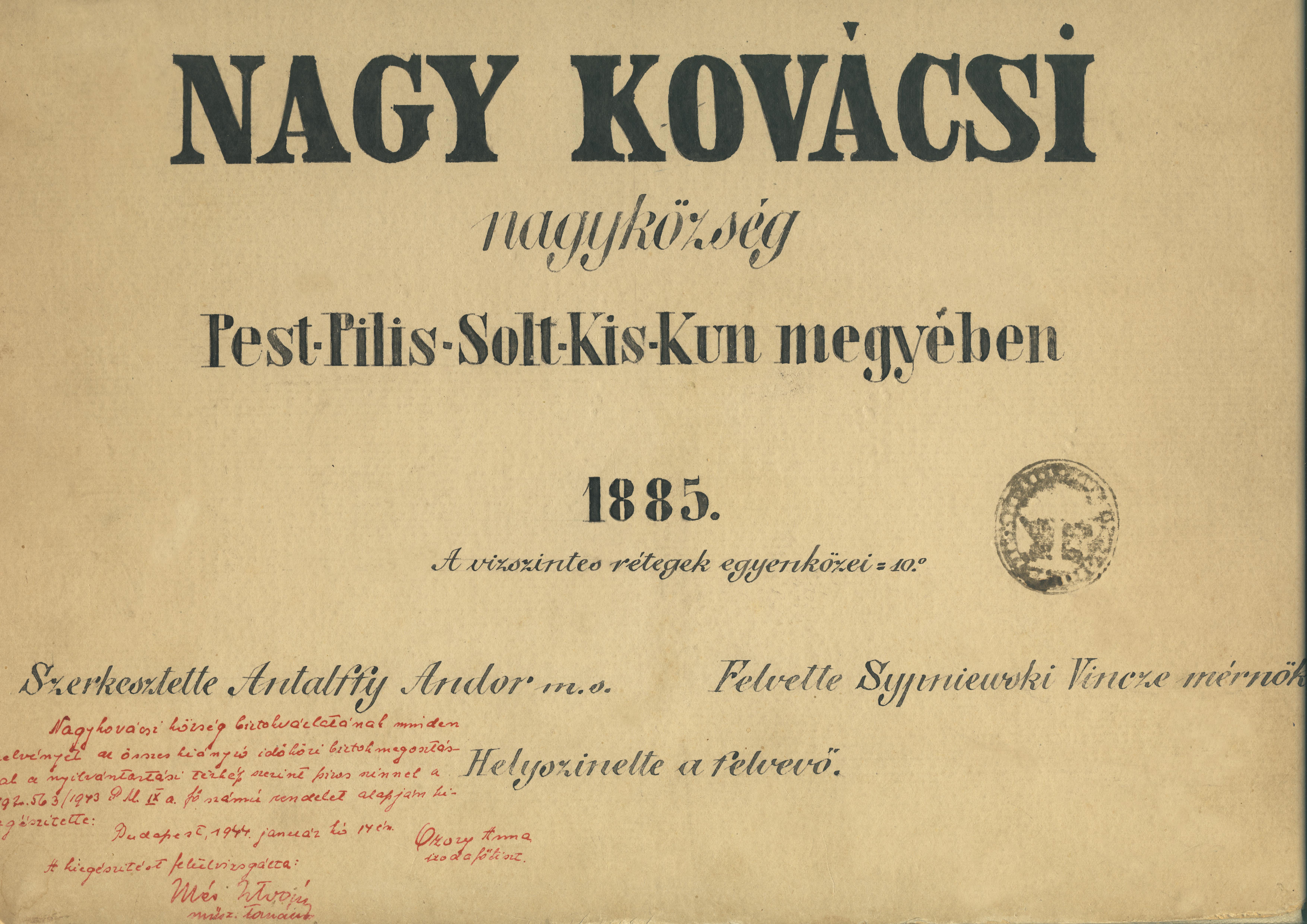 Nagy Kovácsi nagyközség  1885. Címlap_javított