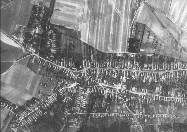 Nagykovácsi 1965 légifotó részlet