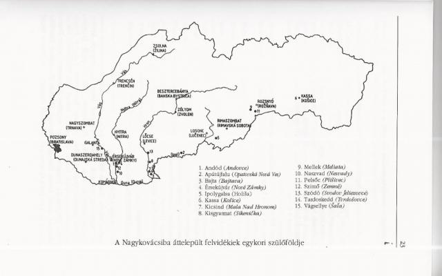 Térképvázlat Szatmári Lajos tanulmányából
