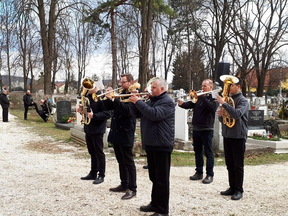 A pilisszentiváni rézfúvós zenekar tagjai