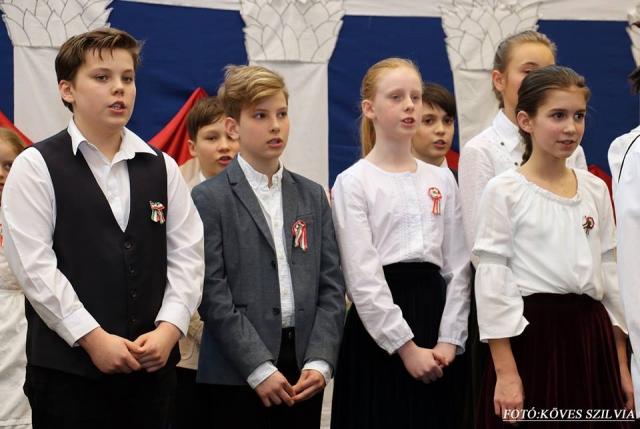 Az iskolások ünnepi műsora 2018. március 15-én