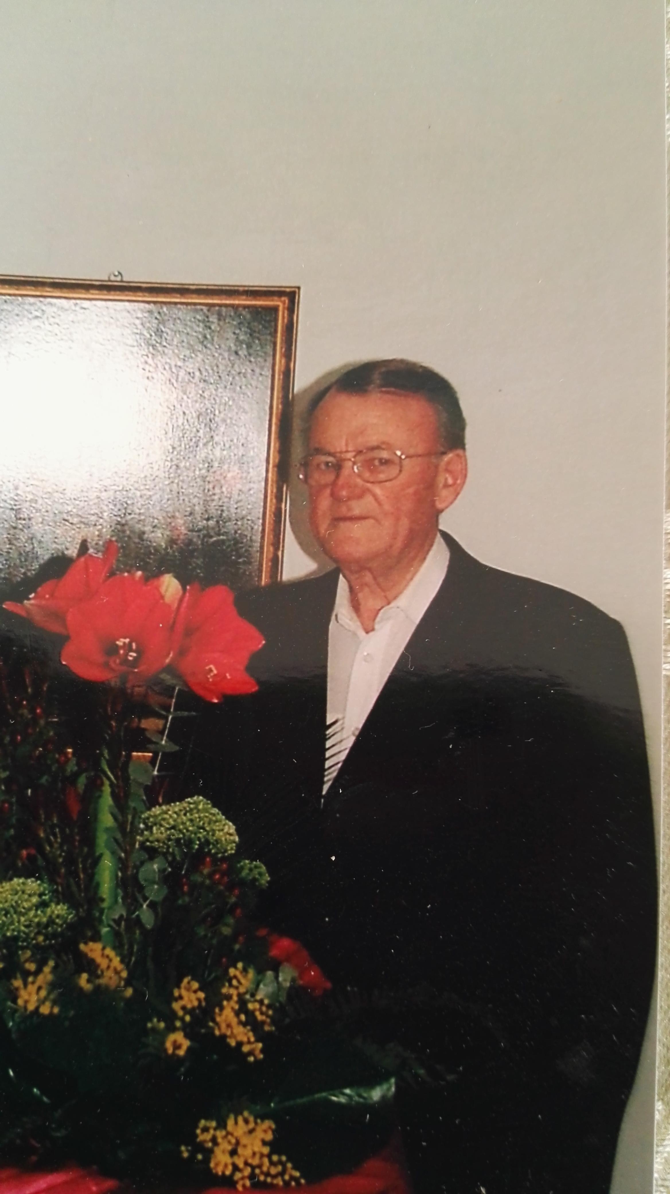 Hudák Zsigmond 84. születésnapján az otthonában