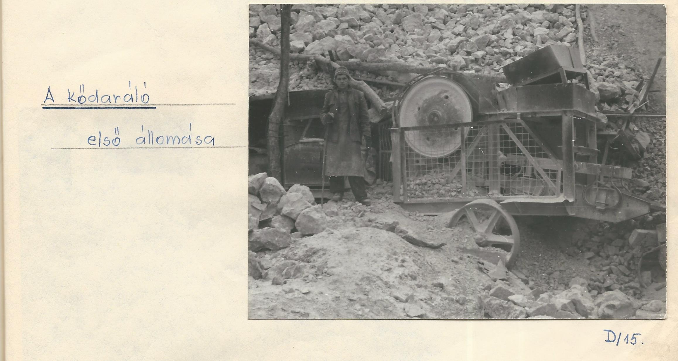 A kődaráló első állomása Községi Krónika 1968.
