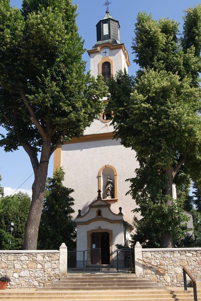 A templom bejárata 2018. június 30.