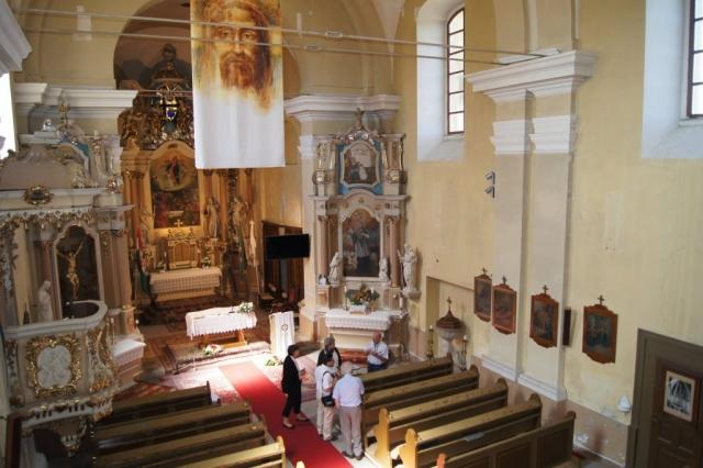 A templom belseje a kórusról 2018. június 30.