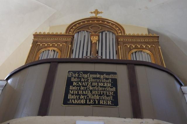 Az orgona restaurálásakor  talált felirat,  Eilisch János restaurátor munkája 2018. június 30.