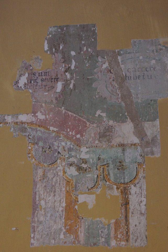 Kutató ablak a régi falfestés feltárására 2018. június 30.