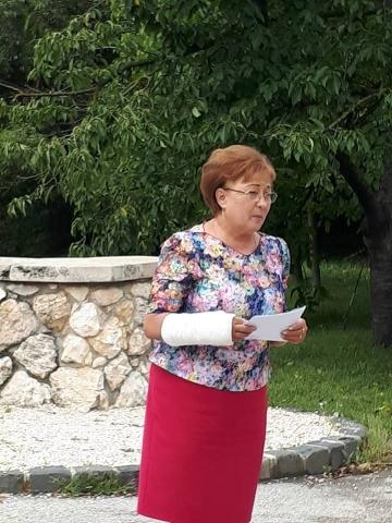 Czuczor Mária Andód polgármestere a 2018-as kovácsi búcsún
