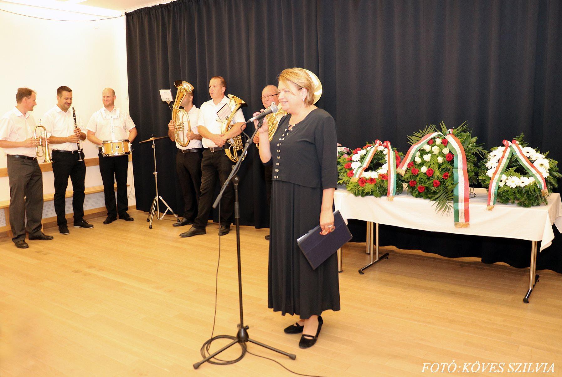 Bányásznap 2018. A Pilisi kis Fúvós Zenekar és G. Furulyás Katalin
