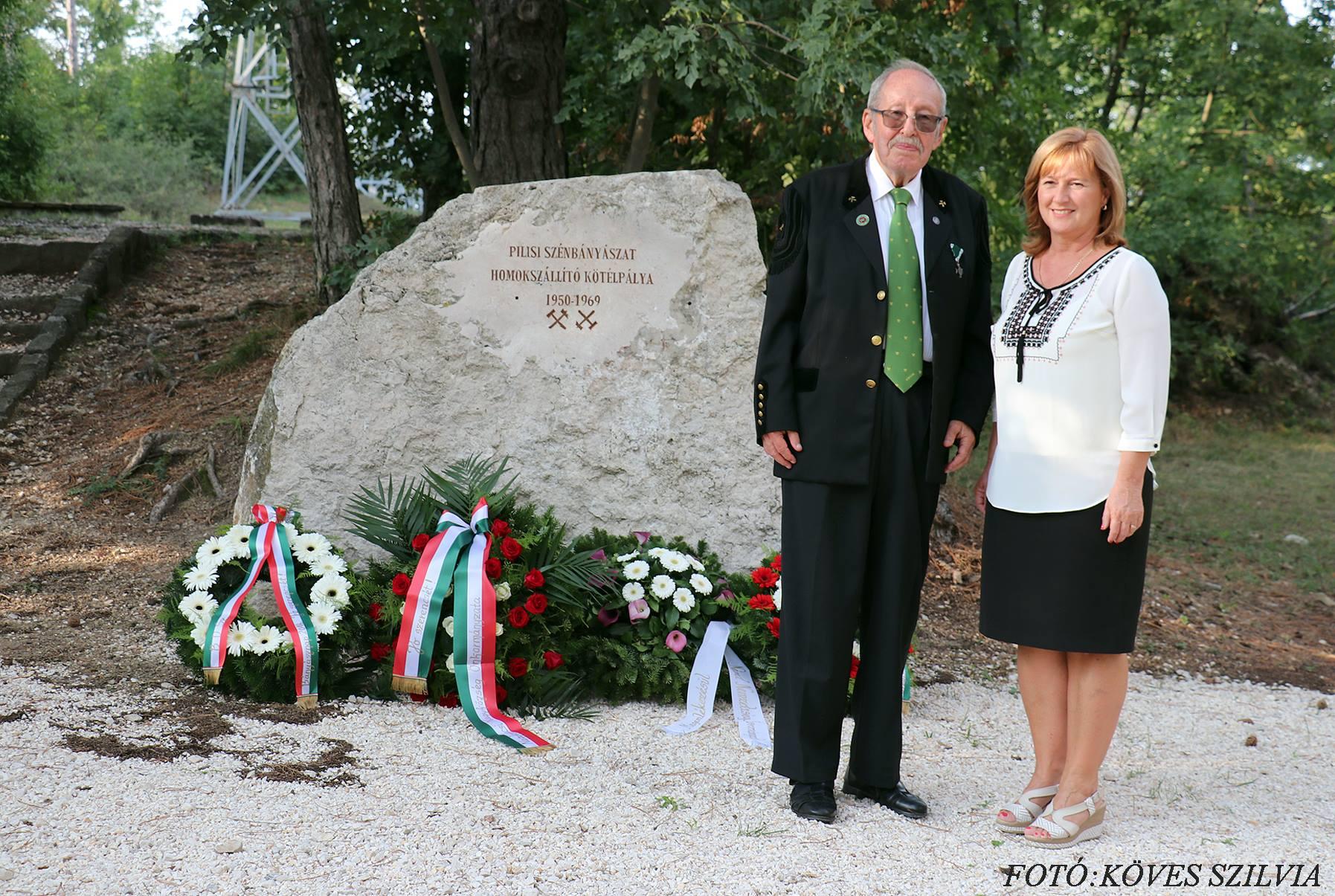 Dr Horn János és Kiszelné Mohos Katalin polgármesterasszony Bányásznapon 2018.
