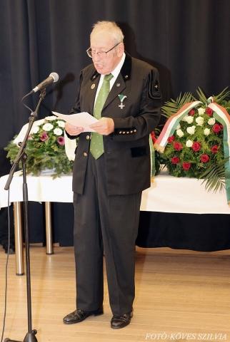 Dr Horn János, A BDSZ elnöki főtanácsadója ünnepi beszédet tart 2018.